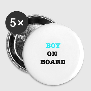 Baby On Board Boy on Board - Buttons klein 25 mm