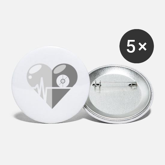 Love Buttons - CD heartbeat - Small Buttons white