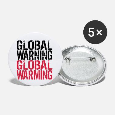 Global Global Warning - Global Warming - Buttons klein