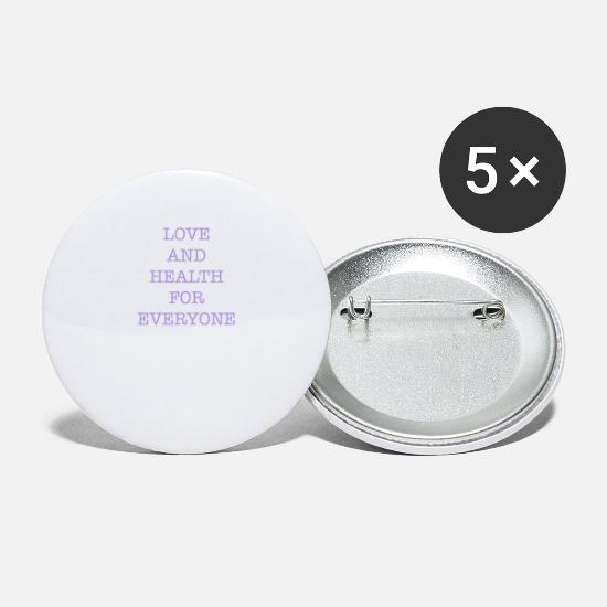 Love Buttons - LOVE AND HEALTH - Small Buttons white