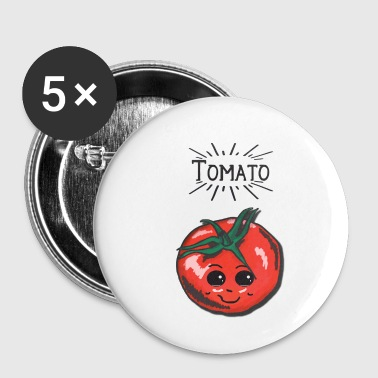 Tomato l Tomato Vegetable Vegetarian Vegan Garden - Buttons small 25 mm