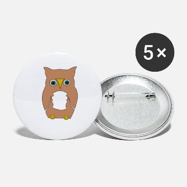 Derpi Owl - Small Buttons
