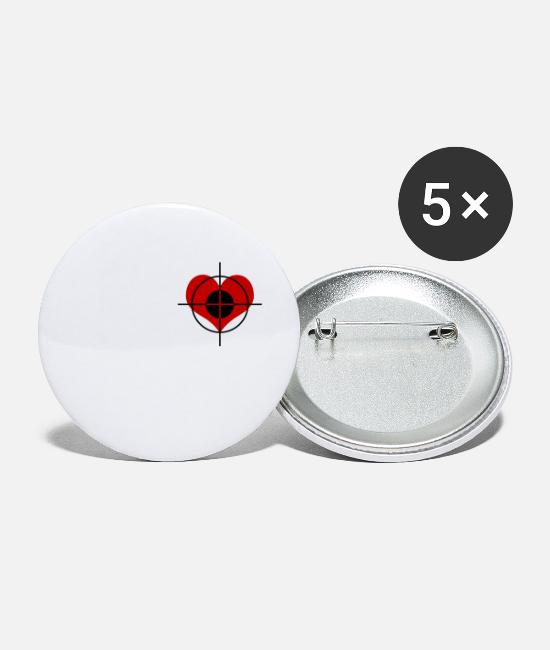 Heart Rate Buttons - Heart target - Small Buttons white