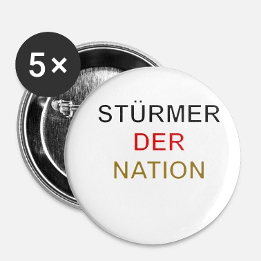 Angribere nationens angriber - Buttons/Badges lille, 25 mm