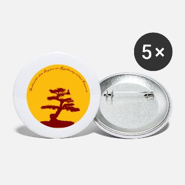 Esoterism Ginger bonsai esoteric wisdom gift idea - Small Buttons