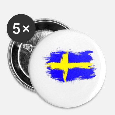 Sverige Sverige Sverige Sverige flag - Buttons/Badges lille, 25 mm