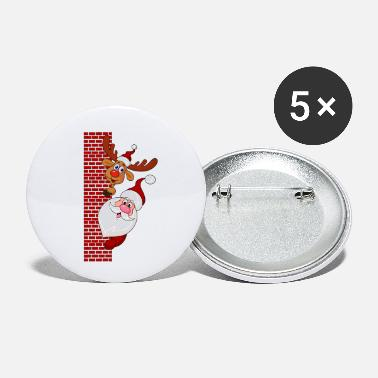 Santa Claus and Rudolf the reindeer - Small Buttons
