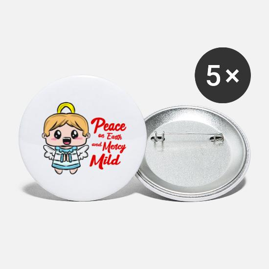 Gift Idea Buttons - Christmas angel - Small Buttons white