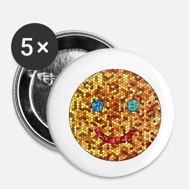 Luxury Smily in mosaic - Buttons small 25 mm