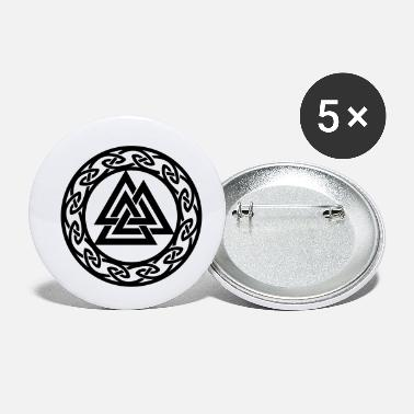 Asgard Valknut, Wotans Knot, celtic endless knot - Small Buttons