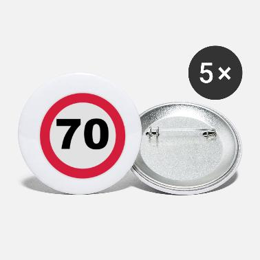 Round Birthday 70. Birthday 70 70er round birthday 3c - Small Buttons
