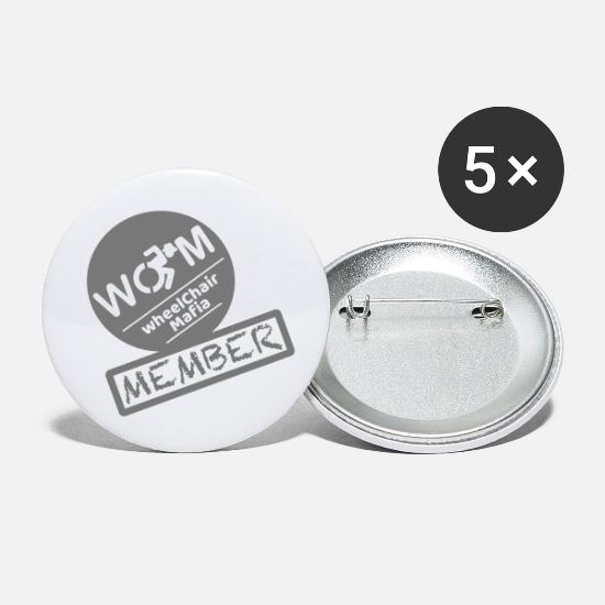 Wheelchair Buttons - WheelChair Mafia member 001 - Small Buttons white