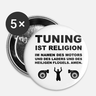 Tuning Tuning is religie - Buttons klein 25 mm (5-pack)