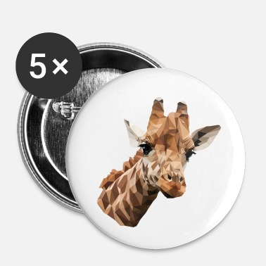 Serengeti Girafe, Polygon, Safari, Afrique, Serengeti - Badge petit 25 mm