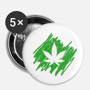 Reggae feuille - Badge petit 25 mm