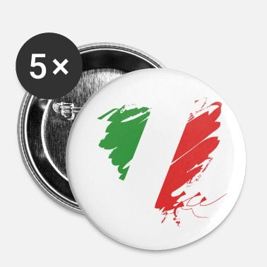 Romantique Italie Football Europe Coeur Calcio Italiano Grunge - Badge petit 25 mm