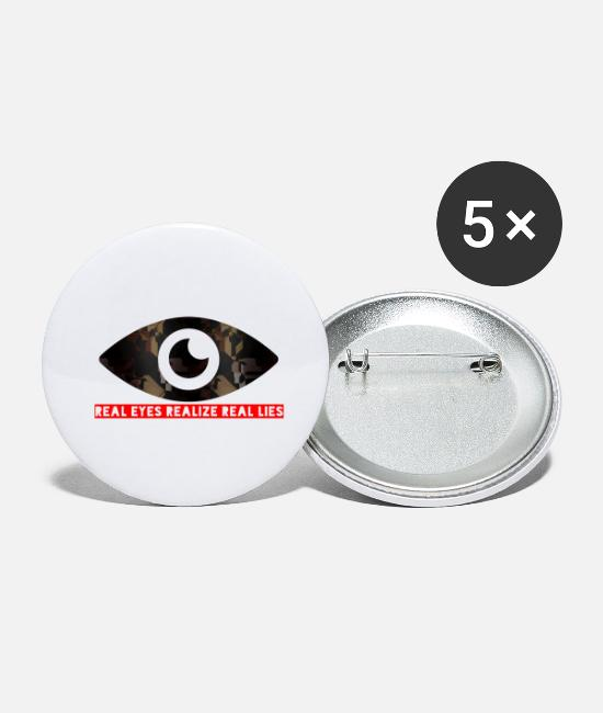 Fold Buttons - Real Eyes Realize Real read - Small Buttons white