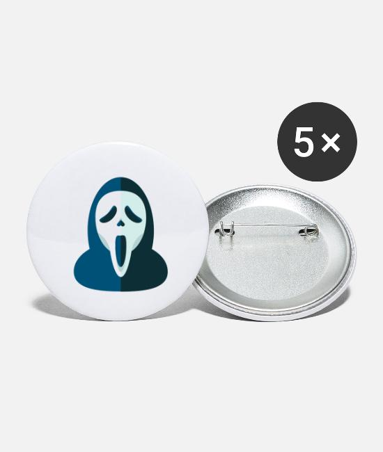 Screamm Mask Buttons - screem scream mask - Small Buttons white