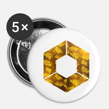 Hexagone HEXAGONES HEXAGONE GOLD 9 - Badge petit 25 mm