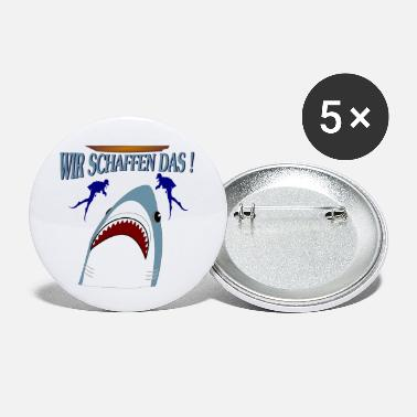 We Can Make It We make it ! - shark and diver. - Small Buttons