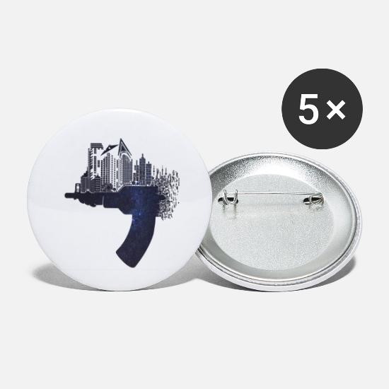 Greenman Buttons - Underground - Small Buttons white