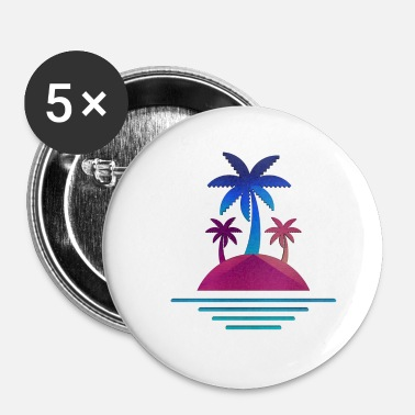 Eiland zonnig eiland zonnig eiland - Buttons klein 25 mm (5-pack)