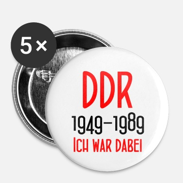 Demokrat GDR 1949-1989 Jeg var der tysk demokrat. Rep. - Buttons/Badges lille, 25 mm