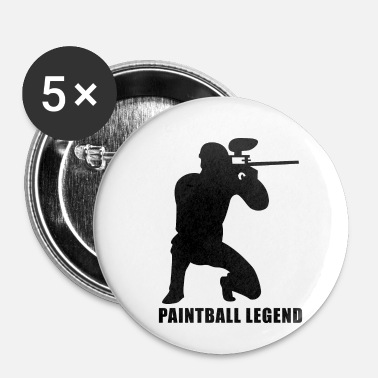 PAINTBALL LEGEND - Små knappar 25 mm
