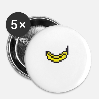 Pixelated Pixel banana - Buttons small 25 mm