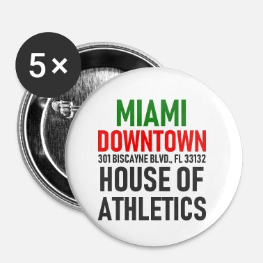 Ville Centre-ville de Miami - House of Athletics - Floride - Badge petit 25 mm