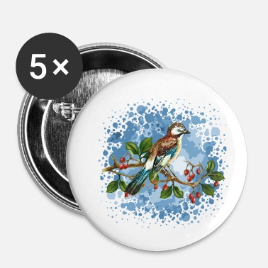 Symbol Bird jay - Buttons/Badges lille, 25 mm