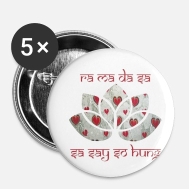 Lotusblomst mantra ra ma da sa e 235 - Buttons/Badges lille, 25 mm