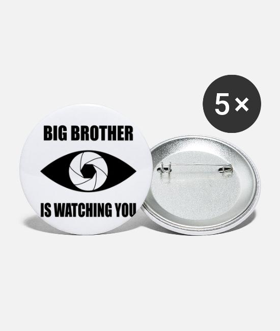 Surveillance State Buttons - big brother - Small Buttons white