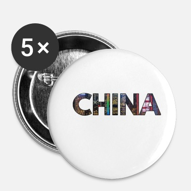 China China - Buttons klein 25 mm (5-pack)