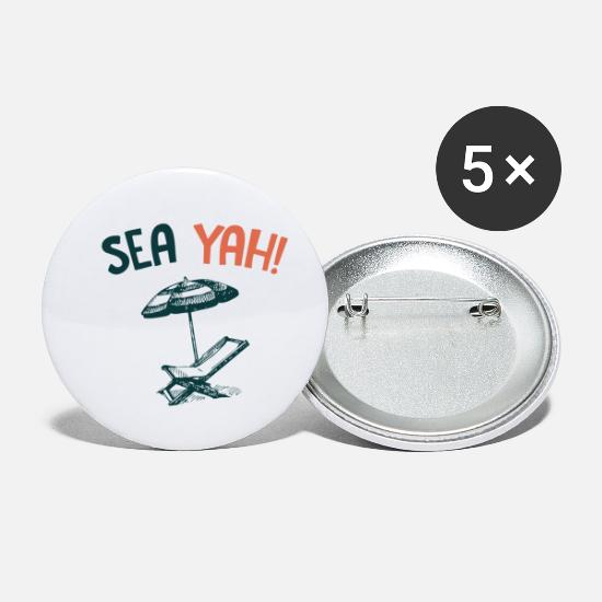 Waves Buttons - Sea Yah! - Small Buttons white