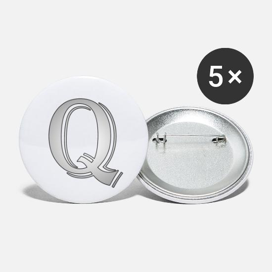 Gift Idea Buttons - Q like cross - Small Buttons white