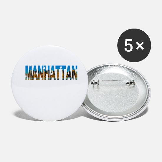 Manhattan Bottoni & Spille - Manhattan skyline New York regalo - Spille piccole bianco