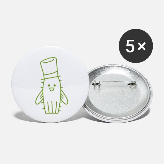 Gift Idea Buttons - cactus - Small Buttons white