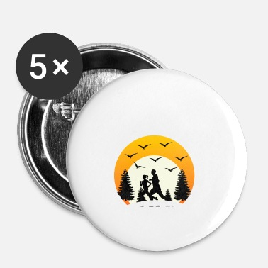 Sprint hardlopen - Buttons klein 25 mm (5-pack)