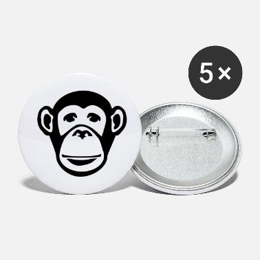 Ape monkey_face_f1 - Small Buttons
