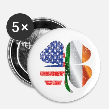 clover american irish - Buttons small 1''/25 mm (5-pack)
