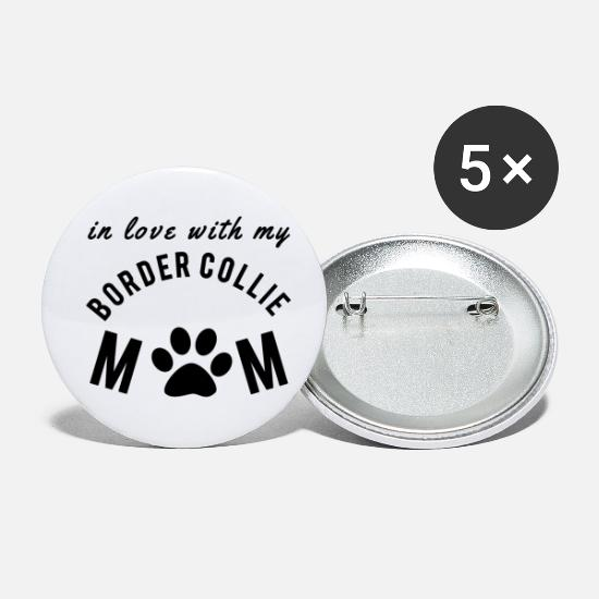 Doggie Buttons - Border collie - Small Buttons white