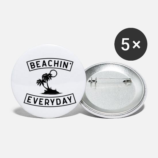 Waves Buttons - Sitting on the beach daily - Small Buttons white