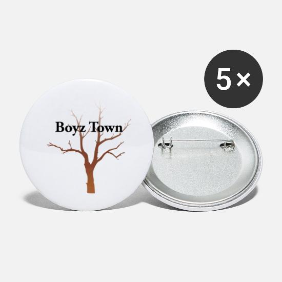 Strip Buttons & Anstecker - Boyz Town - Buttons klein Weiß