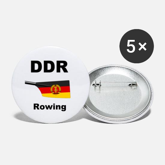 Aquatics Buttons - DDR - Rowing - Rowing - Aviron - GDR - Small Buttons white