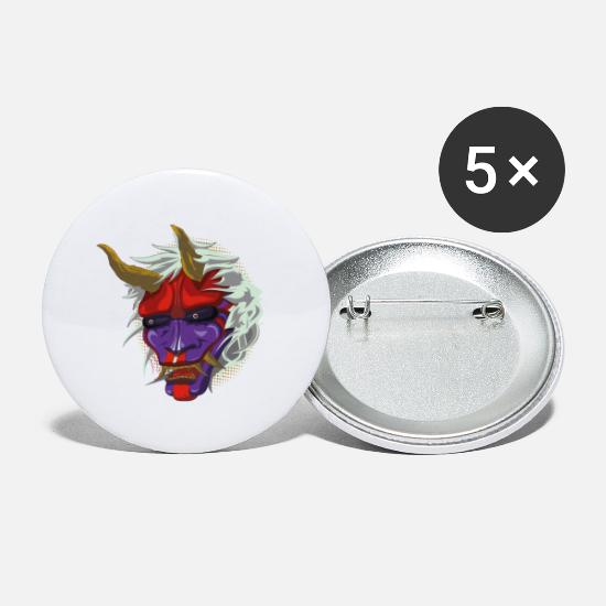 Tattoo Buttons & badges - Oni - Små buttons hvid