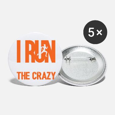 Officialbrands I Run To Burn Off Crazy - Small Buttons