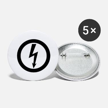 Electrician Electrician lightning electrician - Small Buttons