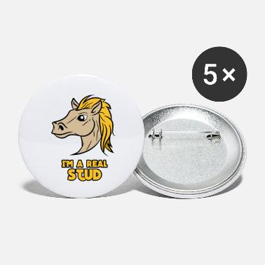 Mare Proud mare riding horse - Small Buttons