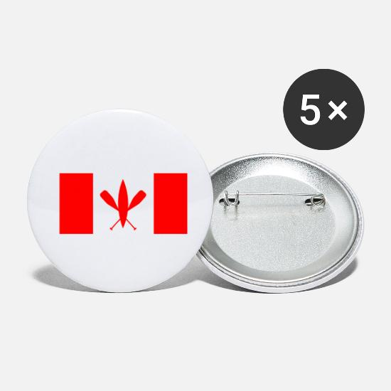 National Team Buttons - Canoe Canada Canoeing - Gift idea - Small Buttons white
